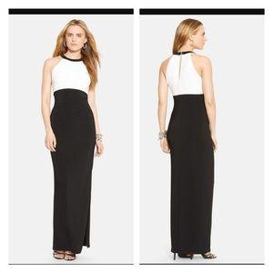 Ralph Lauren Dresses - Ralph lauren size 10 blk/white evening gown/ dress